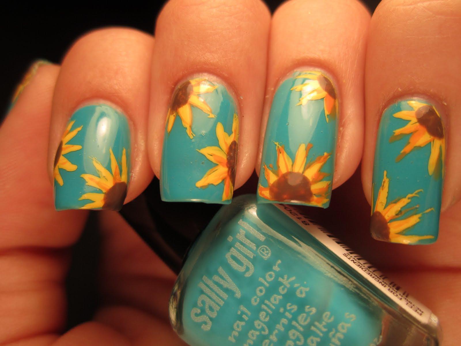 nail-art-girasole