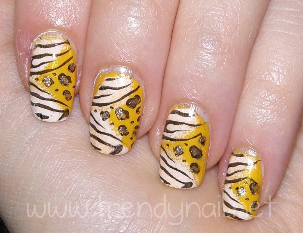 Come fare una Nail Art giallo zebrato  Nail Art  Donnee.it
