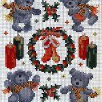 schemi punto croce Natale16