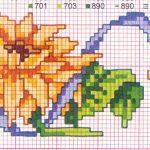 schemi punto croce - fiore 10