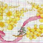 schemi punto croce fiore 8
