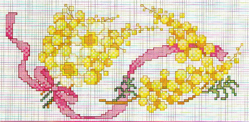 Idee Per La Cucina A Punto Croce : schemi punto croce fiore 8 Donnee ...