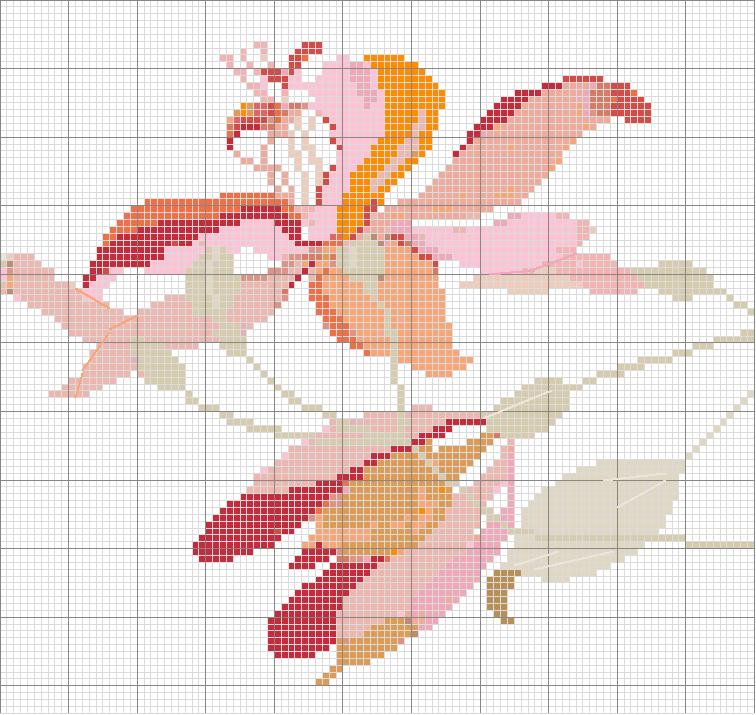 Schemi punto croce fiore1 for Registro casa schemi