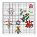 schemi punto croce-fiori misti