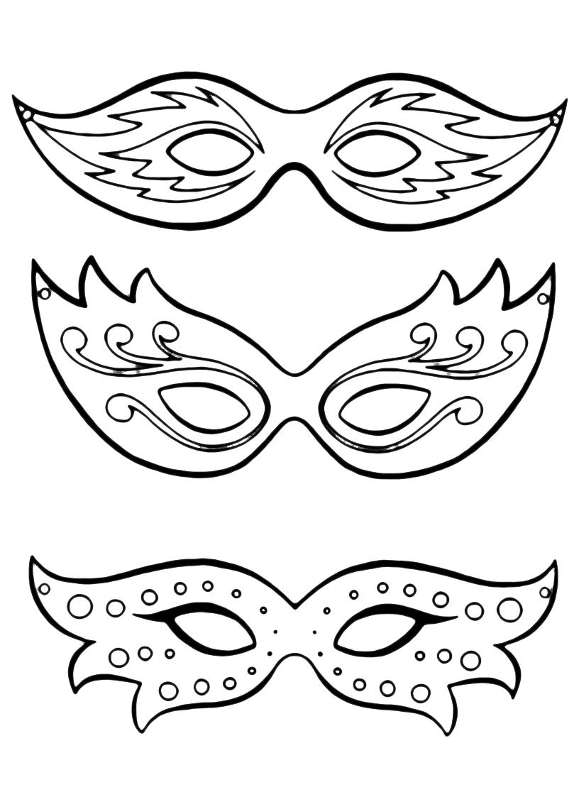 Disegni Maschere Di Carnevale Da Colorare E Stampare