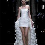 abiti da sposa corto con strascico