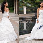abiti da sposa rose blu