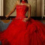 abiti da sposa rosso fuoco