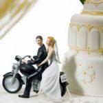 cake toppers statuine torta nuziale moto