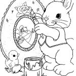 disegni da colorare coniglio family