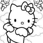 disegni da colorare hello kitty angelo