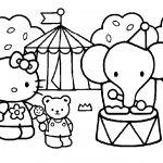 disegni da colorare hello kitty circo da colorare
