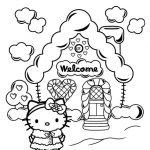 disegni da colorare hello kitty welcome