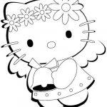 hello kitty da colorare disegno di pasqua