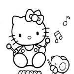 hello kitty da colorare musica