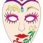 maschera di carnevale da ritagliare CARNEVALE DI VENEZIA