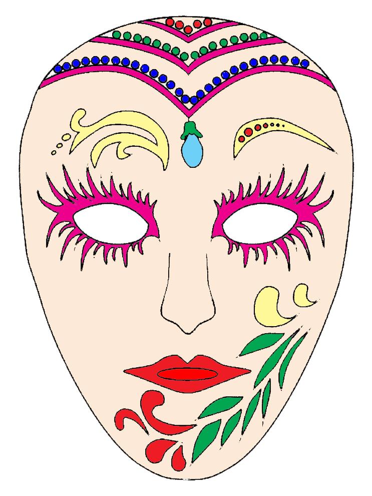 Lusso Carnevale Di Venezia Disegni Maschere Colorate Migliori