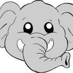 maschera di carnevale da ritagliare elefantino