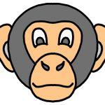 maschera di carnevale da ritagliare scimmia