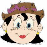 maschera di carnevale da ritagliare signora