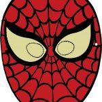 maschera di carnevale da ritagliare spiderman colorato