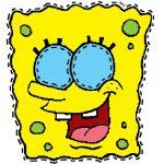 maschera di carnevale da ritagliare spongeboob