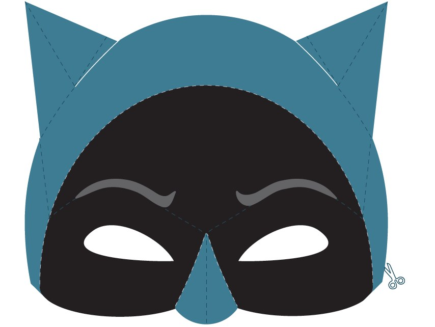 Maschera di carnevale di batman for Maschera di flash da colorare