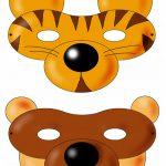 maschere-carnevale da stampare -tigre-orso