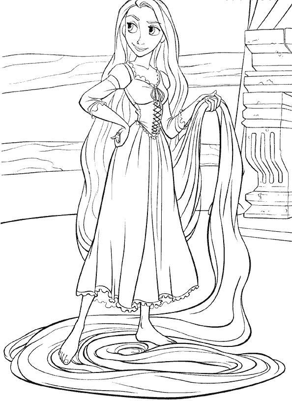 Rapunzel da colorare carnevale for Disegni da colorare e stampare di rapunzel