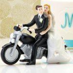 statuine torta nuziale motocicletta