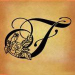 tatuaggi lettere F