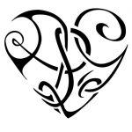 tatuaggi lettere L cuore