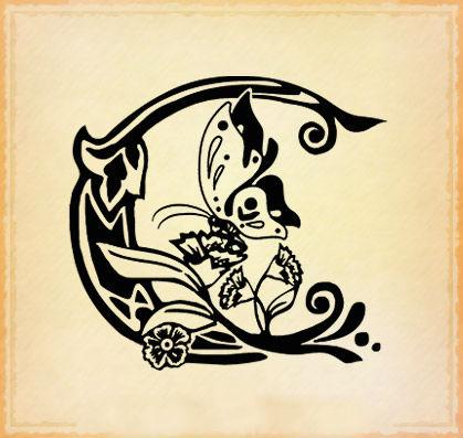 Tatuaggi lettere c for Foto tatuaggi lettere