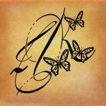tatuaggio iniziale lettera