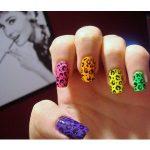 nail art leopardata