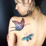 tattoo farfalle schiena