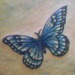 tatuaggi farfalla semplice