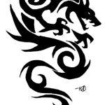 tatuaggi tribali drago