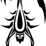tatuaggi tribali scorpione
