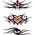 tatuaggio tribale colorato