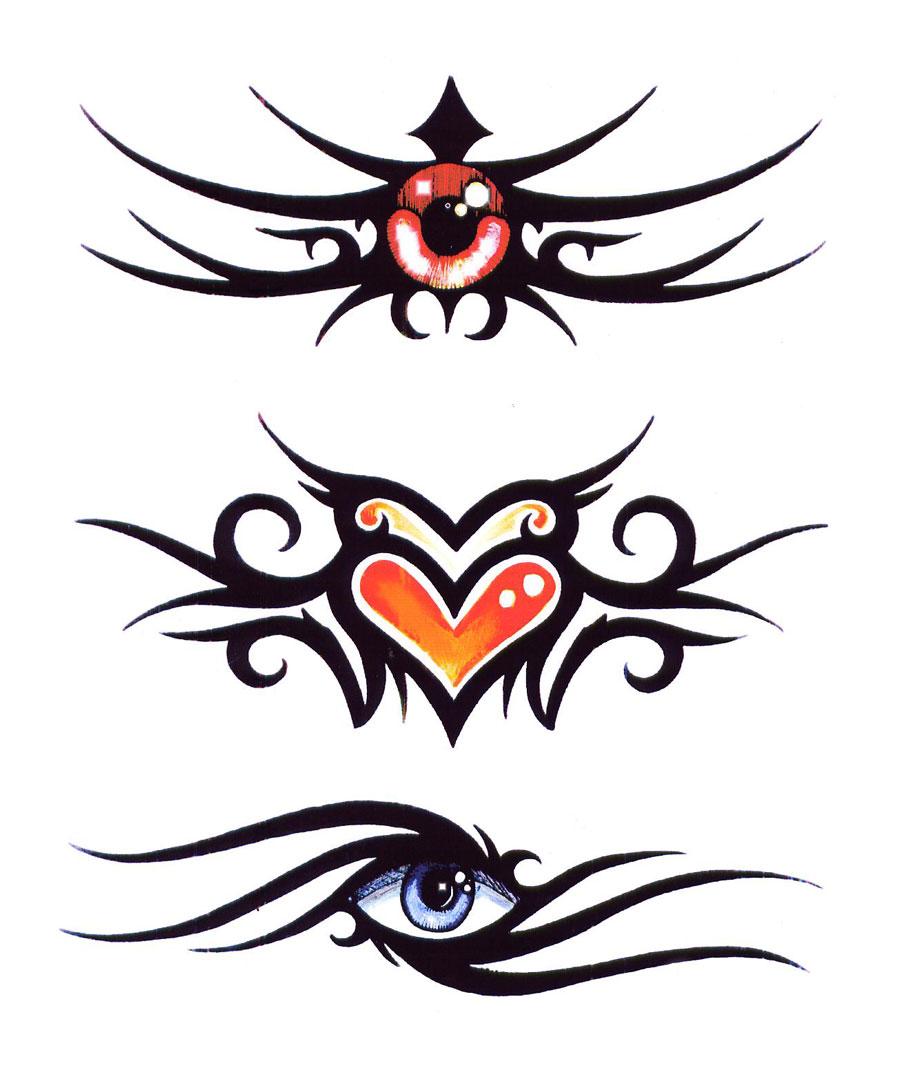 Tatuaggio tribale colorato for Disegni fiori per tatuaggi