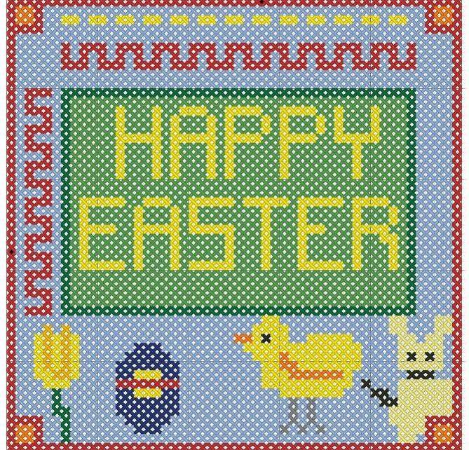 Ricamo A Mano Schemi Gratis.Schemi Punto Croce Pasqua Gratis I Ricami Per La Pasqua In